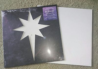 "David Bowie No Plan Limited 12"" Inch White Vinyl + Lithograph Print Sealed Mint"