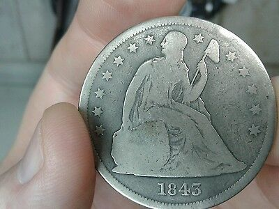 1843 Seated Liberty Dollar, Good    >>> 1 DAY SALE <<<