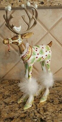 "Large 11.5"" Patience Brewster Department 56 Krinkles Vixen Reindeer Christmas"