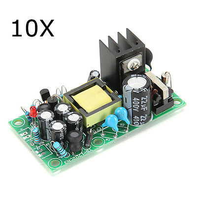 10Pcs 220V to 12V 5V Fully Isolated Switching Power Supply AC-DC Module