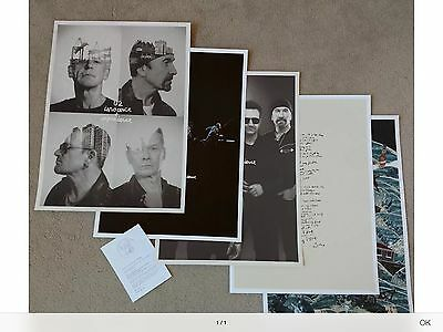 U2 Limited Edition Fan Club Innocence and Experience Tour Poster Lithograph Set