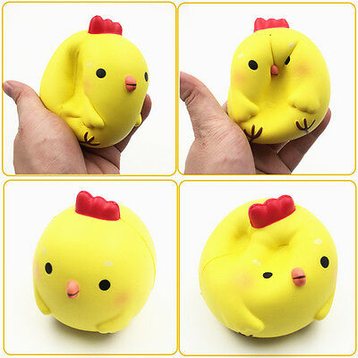 Squishyfun Yellow Chicken Squishy 10cm Slow Rising Original Packaging Collection