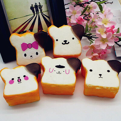 Squishy Jumbo Emoji Face Bread 8.5x4.5cm Slow Rising Cute Kawaii Collection Gift