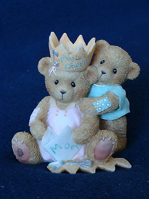 Cherished Teddies - Mother's Day Mom/Child with Homemade Crown Fig - 4005161