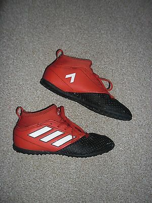 Adidas Kids Red 'Pogba' Ace Astro Turf Trainers size 3