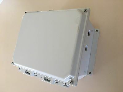 Allied Moulded Waterproof Control Panel Enclosure AMP1084F Junction Box 8X10X4