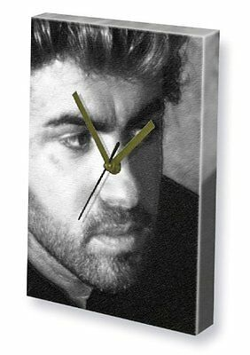 GEORGE MICHAEL - Canvas Clock A4 - Signed by the Artist #js003