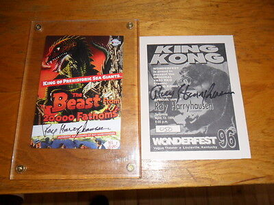 Ray Harryhausen Wonderfest Signed King Kong 1/50 Beast From 20,000 Card Signed