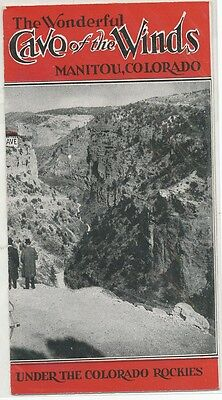The Wonderful Cave of the Winds Manitou Springs, Colorado, Booklet Rare