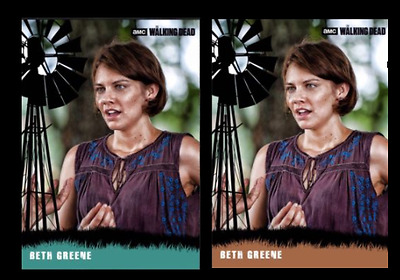 Topps The Walking Dead Card Trader The Greenes Magie Farm House Teal & Brown