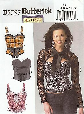 Butterick Pattern 5797 Corset Sized to Fit My Size Barbie