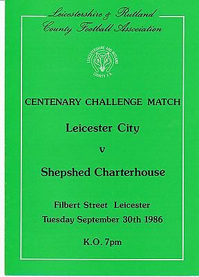 Leicester V Shepshed Charterhouse 1986 Friendly