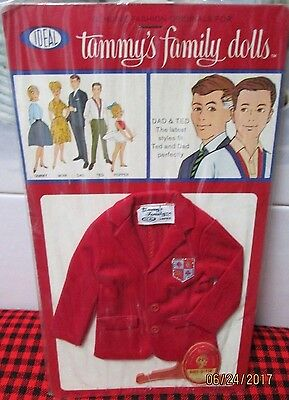 BRAND NEW~SEALED PACKAGE~1963 IDEAL~TAMMY`S DAD /&TED ***PAJAMA SET*** JAPAN~MINT