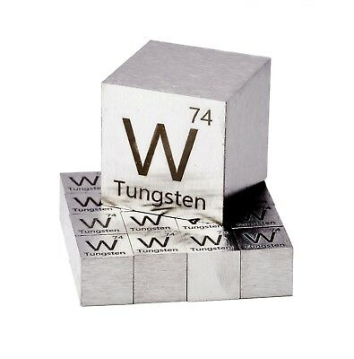Tungsten Metal 10mm Density Cube 99.95% Pure for Element Collection SHARP EDGES!