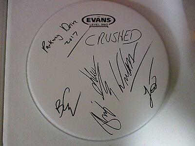 Parkway Drive Autographed Signed Drumhead With Signing Picture Proof