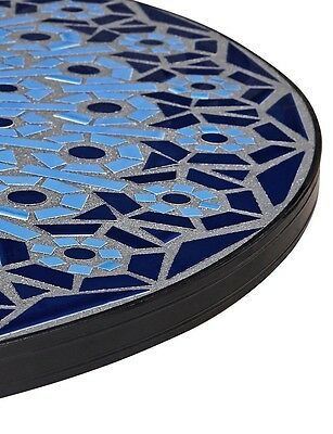 Marks and Spencer Blue Mosaic Garden Patio Outdoor Dining Bistro Table BNIB