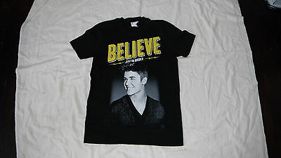 JUSTIN BIEBER 2013 BELIEVE Live WORLD TOUR Concert Black NEW T Shirt!!