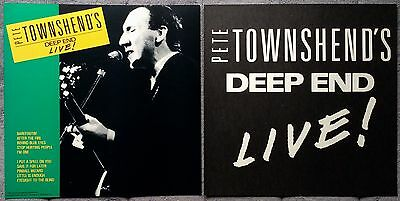 Pete Townsend (The Who) Deep End Live! '86 RARE promo 12 x 12 poster flat