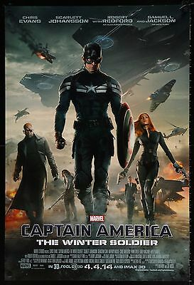 CAPTAIN AMERICA: THE WINTER SOLDIER DS Movie Poster 27x40 #StanLee #MoviePoster