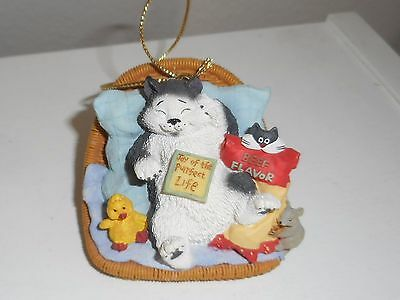 San Francisco Music Box Co Cat Christmas Ornament ~ Setsuko Broderick Purrfect