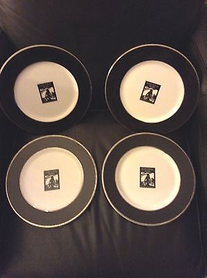Port Royal Club Naples Florida Set 4 Dinner Plates RARE Great Design Must SEE !