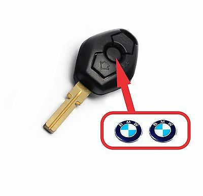 BMW fob key central button domed sticker badge (Set of 2) [H195]