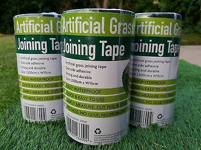 Artificial Fake Grass Tape Joining Self Adhesive Fixing Fake Astro Turf - GREEN