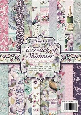 HUNKYDORY A4 Speciality Paper Pad ~ A TOUCH OF SHIMMER (48 Sheets)