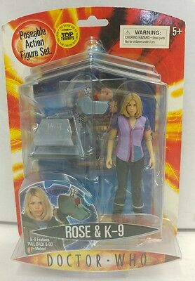 """2006 Doctor Who Series ROSE TYLER with K-9 Dog 5.5"""" Inch Action Figure NEW MOC"""