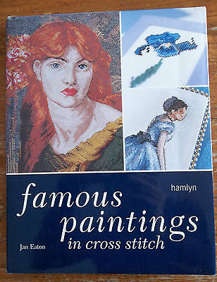 Famous Paintings in Cross Stitch Jan Eaton Hamlyn Book - Excellent