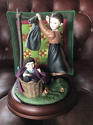 The Amish Heritage Collection Figurine, Taking Down The Clothes
