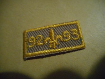 1992-93 Boy Scouts small year Patch