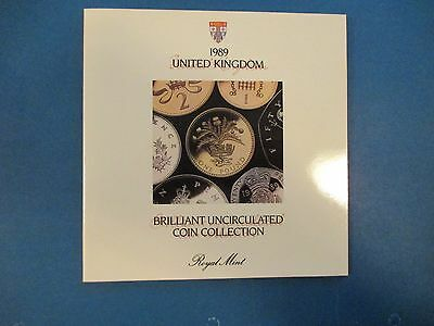 Britain 1989 UK Mint Set Uncirculated 7 Coins (1 Pound 50,20,10,5,2,1 Pence)
