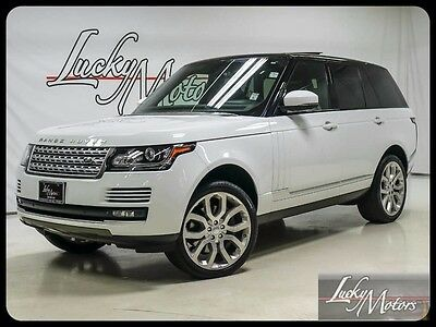 2015 Land Rover Range Rover Supercharged Sport Utility 4-Door 2015 Range Rover V8 Supercharged Pano Vision Pkg Loaded 22 4 Zone Climate!