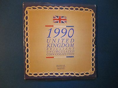 Britain 1990 UK Mint Set Uncirculated 8 Coins Includes New Smaller  5 Pence
