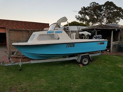 15 FT Sportscraft Runabout boat with 40hp outboard Mercury.