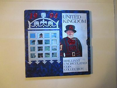 Britain 1994 UK Mint Set  8 Coins 2 Pound Bank of England 1694 & D-Day 50 Pence