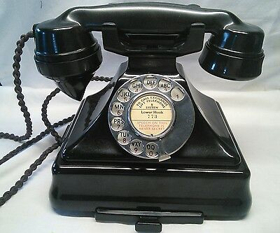 GPO King Pyramid 200 Series  Telephone - Vintage Art Deco - Immaculate