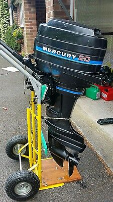 mercury 2 stroke 20hp thunderbolt outboard engine