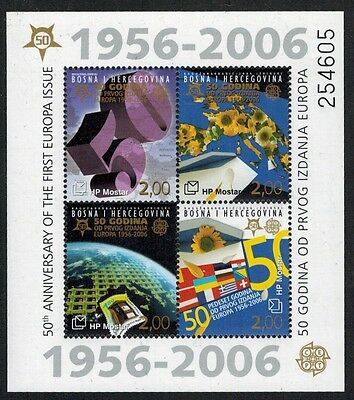 Bosnia (Croat) 2006 50th Anniversary Europa S/S #151e Mint NH (Sc $18 US)