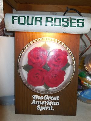 Vintage Four Roses Whiskey Lighted Advertising Sign