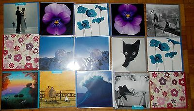 15 New Art Group Blank Greeting Cards Cat New York Flowers Wedding Job Lot