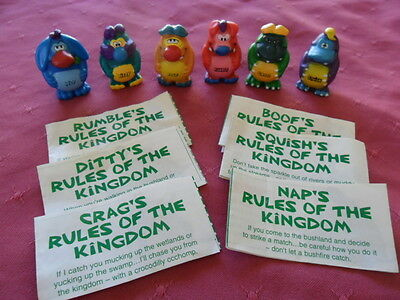 Yowies Series 1 COMPLETE SET of 6 GREEN PAPERS YOWIE MEN * LIMITED EDITIONS