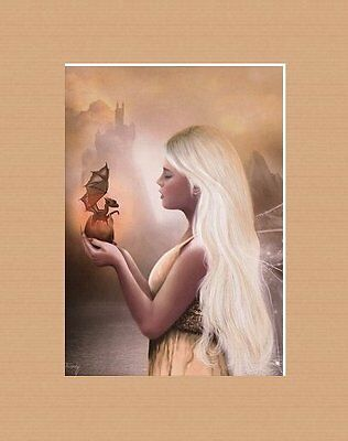 Enchanting Matted Fairy Art * Lillian Fioretzi * Birth Of A Dragon