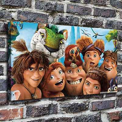 """12""""x22""""The croods characters Paintings HD Print on Canvas Home Decor Wall Art"""