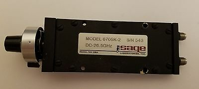 Sage 6705k-2 DC TO 26.5 GHz Phase Shifter, K connector