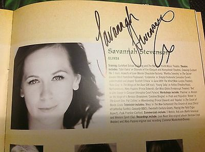 Wicked the Musical SIGNED Programme. Savannah Stevenson.