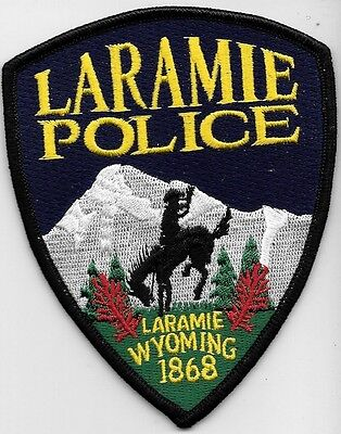 Laramie Wyoming Wy Police Dept Horse Cowboy Lpd Pd Mtns Snow Trees