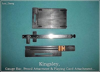 Kingsley Machine (Gauge Bar, Card & Pencil Attachment) Hot foil stamping Machine
