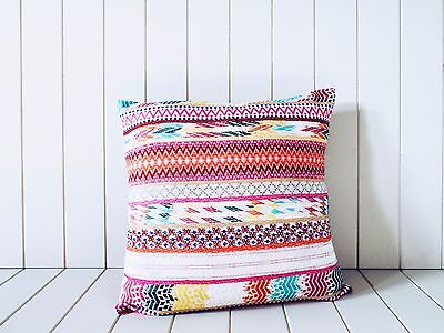 Fluro Boho Kilim Ikat Pink Cushion Pillow Throw Living Nursery Bedroom Decor